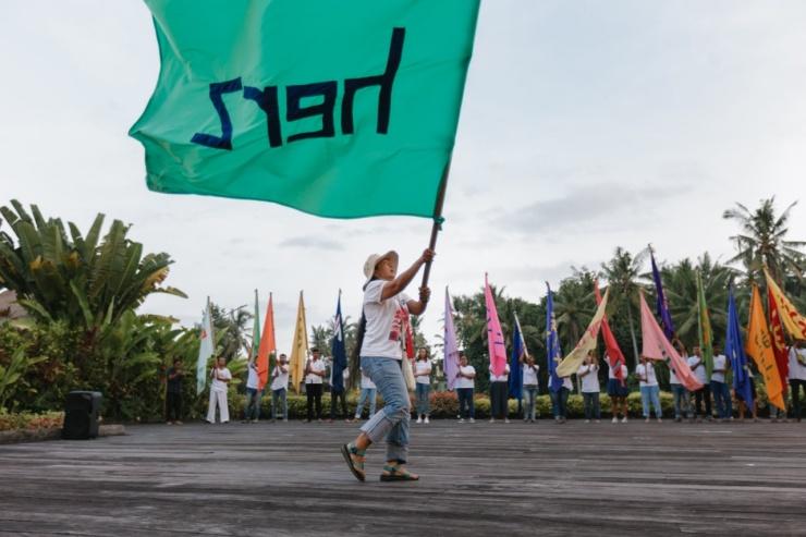 Nusantara Flag Performance, Kayu, Ubud-Bali 2019